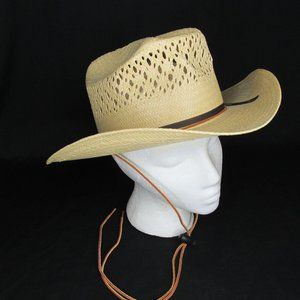 MHT Cowboy Hat 6 7/8 Straw Master Hatters of Texas